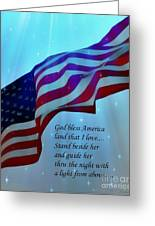 God Bless America Greeting Card by Barbara Chichester