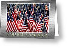 God Bless America Greeting Card by Carolyn Marshall