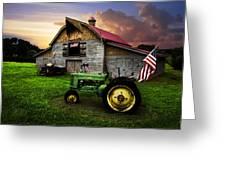 God Bless America Greeting Card by Debra and Dave Vanderlaan