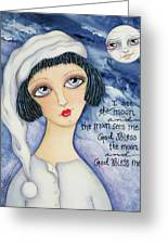 God Bless Me Greeting Card by Joann Loftus