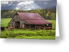 God Bless The Farmer Greeting Card by Debra and Dave Vanderlaan