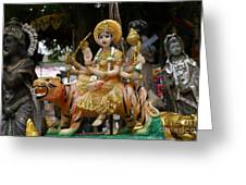 Goddess Durga Greeting Card by Gregory Smith