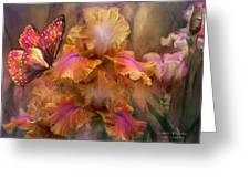Goddess Of Sunrise Greeting Card by Carol Cavalaris