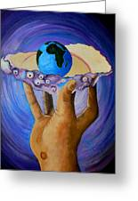 God's Little Blue Pearl Of Great Price Greeting Card by Pamorama Jones