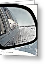 Goin' To Town Greeting Card by Donna Brown