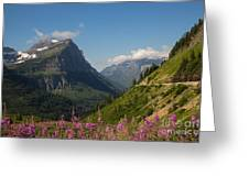 Going To The Sun Road Greeting Card by Natural Focal Point Photography