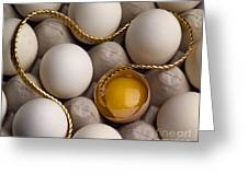 Gold And Eggs Greeting Card by J L Woody Wooden