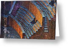 Gold Auditorium Greeting Card by Mark Howard Jones