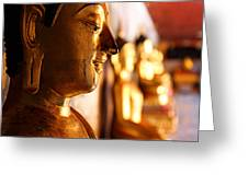 Gold Buddha At Wat Phrathat Doi Suthep Greeting Card by Metro DC Photography