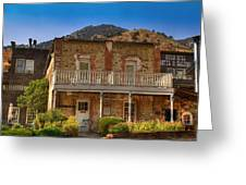 Gold Hill Hotel And Saloon Greeting Card by Donna Kennedy