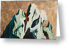 Gold Mountain Greeting Card by Joseph Demaree