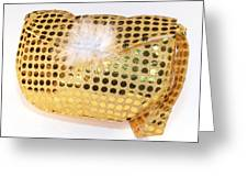 Gold Sequin Purse Greeting Card by Jo Ann Snover