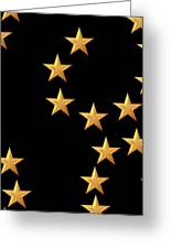 Gold Stars Abstract Triptych Part 2 Greeting Card by Rose Santuci-Sofranko