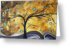 Golden Admiration By Madart Greeting Card by Megan Duncanson