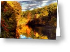 Golden Autumn Greeting Card by Joann Vitali