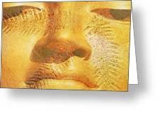 Golden Buddha - Art By Sharon Cummings Greeting Card by Sharon Cummings