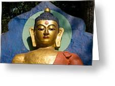 Golden Buddha Greeting Card by Nila Newsom