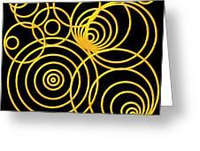 Golden Circles Optical Illusion Greeting Card by Rose Santuci-Sofranko