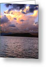 Golden Clouds Greeting Card by    Michael Glenn