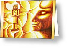 Golden Days Of  Atlantis Greeting Card by Hartmut Jager