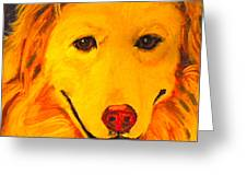 Golden Greeting Card by Debi Starr