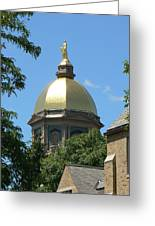Golden Dome Notre Dame Greeting Card by Connie Dye