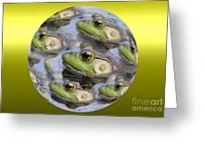 Golden Eye Greeting Card by Rick Rauzi