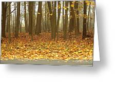 Golden Forest Art Greeting Card by Boon Mee