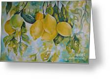 Golden Fruit Greeting Card by Elena Oleniuc