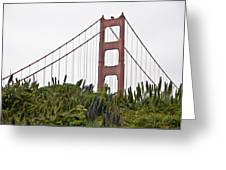 Golden Gate Bridge 1 Greeting Card by Shane Kelly