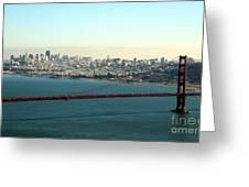 Golden Gate Bridge Greeting Card by Linda Woods