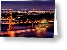 Golden Gate Bridge Greeting Card by Robert Rus