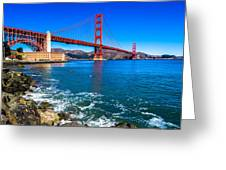 Golden Gate Bridge San Francisco Bay Greeting Card by Scott McGuire