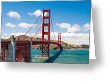 Golden Gate Bridge Greeting Card by Sarit Sotangkur