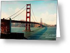 Golden Gate Bridge Greeting Card by Sylvia Cook