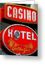 Golden Gate Casino Hotel Greeting Card by Randall Weidner