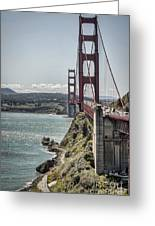 Golden Gate Greeting Card by Heather Applegate