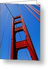 Golden Gate Tower Greeting Card by Rona Black