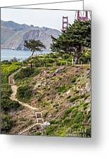 Golden Gate Trail Greeting Card by Kate Brown