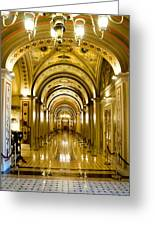Golden Government Greeting Card by Greg Fortier