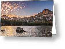 Golden Gunsight Peak Greeting Card by Robert Bales