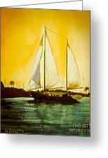 Golden Harbor  Greeting Card by Kip DeVore