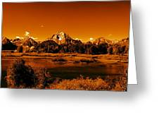 Golden Landscape Greeting Card by Aidan Moran