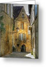Golden Light In Sarlat Greeting Card by Douglas J Fisher