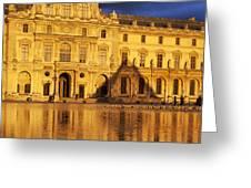 Golden Louvre - Paris Greeting Card by Brian Jannsen
