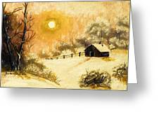 Golden Morning Greeting Card by Barbara Griffin