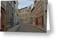Golden Morning Light Painting Rue Couillard  Greeting Card by Juergen Roth