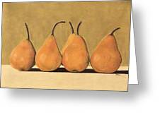 Golden Pears Greeting Card by Jan Amiss