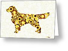 Golden Retriever - Animal Art Greeting Card by Anastasiya Malakhova