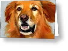 Golden Retriever Dog Greeting Card by Alice Leggett